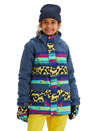 (Burton Kids & Baby Elstar Parka Jacket, Light Denim/Leopardy Cat, Small )