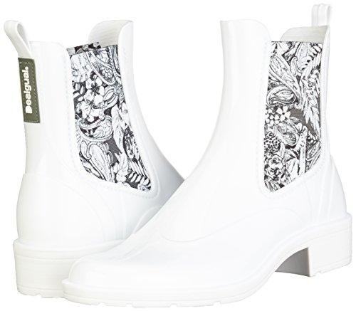 7b8abfb38d2 Ankle Lluvia Rain Para Mujer Botas Desigual Blanco Boot Pasley De OdBBYng