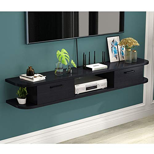 Modern Wall Mount TV Console Floating TV Stand Media Audio/Video Console Entertainment Center Storage Shelf Floating Bracket TV Shelf for Xbox One/PS4/Cable Box/DVD Players/Game Console