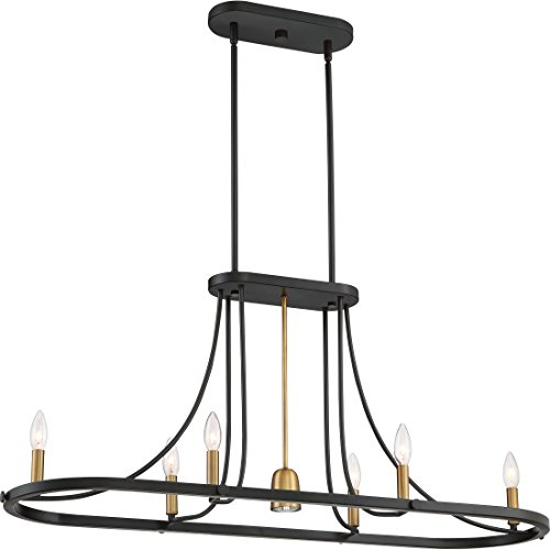 Quoizel BLD642DC Ballard Island Chandelier, 7-Light, 410 Watts, Dark Cherry (19