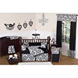 Sweet Jojo Designs Queen Bed Skirt for Black and White Isabella Bedding Sets