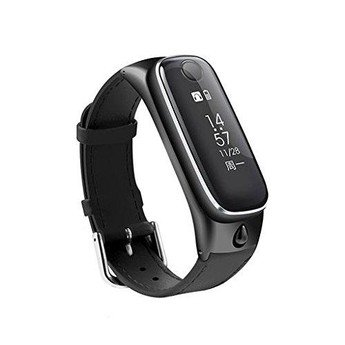 Zeshlla Smart Band Sports Bracelet with Sleep monitoring,Anti-lost alert,Music playing,Stopwatch,Sedentary Reminder Bluetooth Earphone Wristwatch by Zeshlla