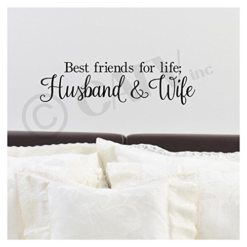 Best Friends For Life; Husband And Wife wall saying vinyl lettering art decal quote sticker home decal