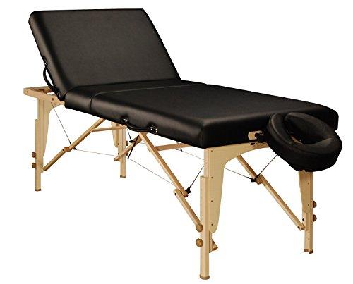 Tilt Table Exam - Mt Massage Midas-Tilt 30'' Liftback Tilting Salon Portable Massage Table Package(Black)