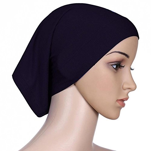 Islamic Muslim Hijab Women's Head Scarf Cotton Underscarf Cover Headwrap Bonnet