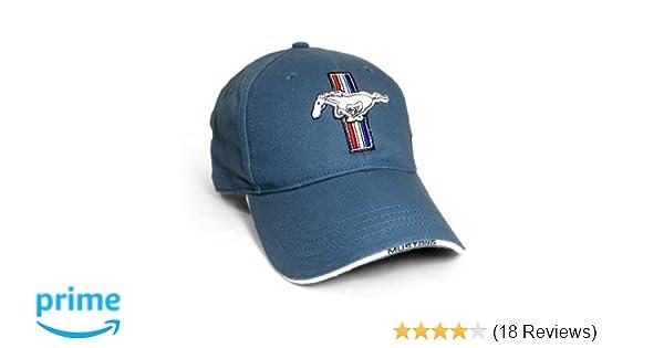 Amazon.com  Ford Mustang Logo Blue Baseball Hat  Automotive 01a39928c6a8