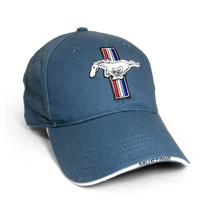 6e78cbb01d4b5 Amazon.com  Ford Mustang Logo Blue Baseball Hat  Automotive