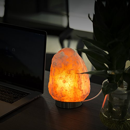 Levoit Elora Large Salt Lamp Pink Crystal Hand Carved Himalayan Salt Lamps with 18/8 Stainless Steel Base, Dimmable Touch Switch, Luxury Gift Box(UL-Listed, 2 Extra Original Bulbs Included) by LEVOIT (Image #4)