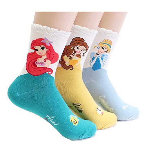 EVEI Cartoon Movies Character Women's Original Socks (D29_3pairs) -