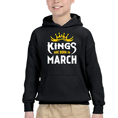 AIDEAR Kings are Born in March Kids Long Sleeve Hoodie Pullover 42