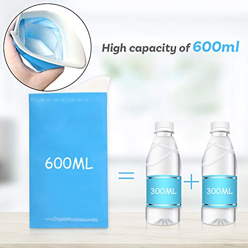 POPLAY 4 PCS Leakproof Disposable Urine Bag Portable Urine Holder Vomit Bags 600ml Travel Urinal Bag