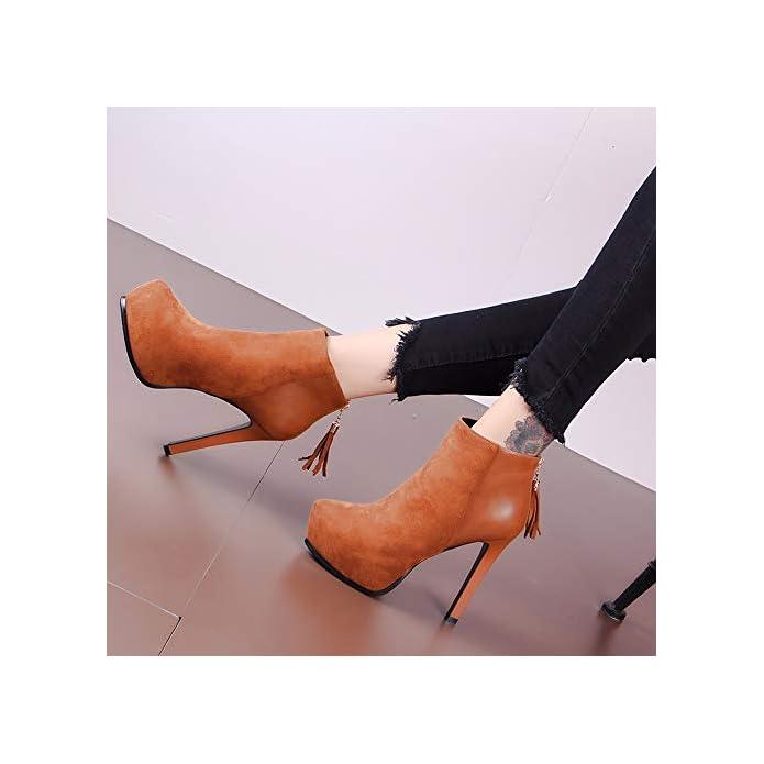 Kokqsx-signore Gli Stivali Puntata Capi A Piattaforme Radici Sexy Martin High Heeled Stivali