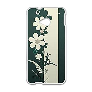 Personalized Creative Cell Phone Case For HTC M7,cartoon flower graffiti