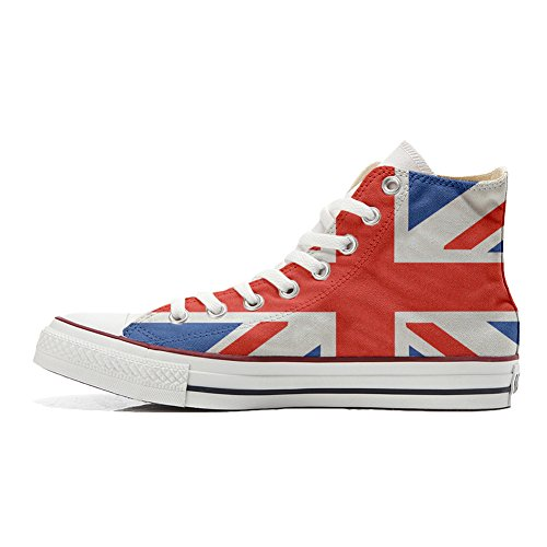 Zapatos All Artesano Personalizados Converse Bandera Producto la Británica Star con Customized Bw7dxqfnt