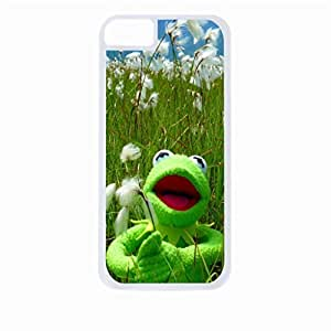 Kermit in a Cottonfield- Hard White Plastic Snap - On Case-Apple Iphone 4 - 4s - Great Quality!