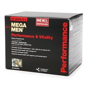 GNC Men's Mega Men Performance & Vitality Vitapak, Packs 30 ea
