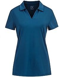 DRI-Equip Ladies Moisture Wicking Solid & Heather Golf...
