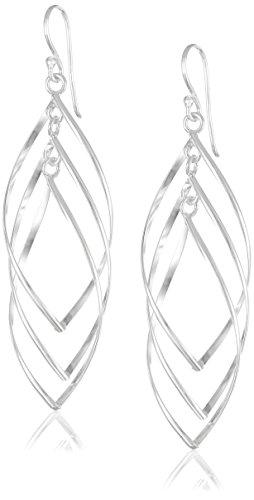 Sterling Silver Oversized Triple Twisted Drop ()