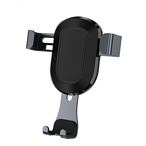 Walless ZY9263 Air Vent Car Mount, Universal Phone Holder, Automatic Lock Structure for iPhone 7/7Plus/6/6S - Black