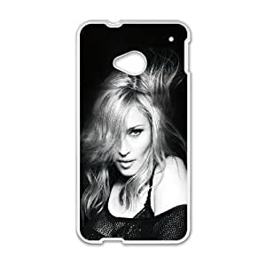 HTC One M7 Cell Phone Case White hc41 madonna singer songwriter sexy dark music JNR2114033