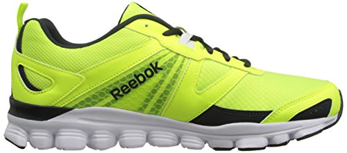 Reebok Hexaffect Ejecutar las zapatillas de running Solar Yellow / Gravel / White