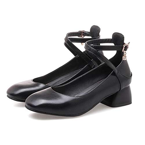 Spring Party PU Heel amp; Women's Beige Black Heels Black Chunky Shoes Evening Polyurethane Basic Brown Pump ZHZNVX EwIRAOqSE
