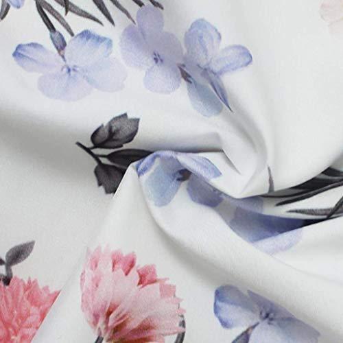Autunno Senza Donna Parola Fiore Carmen Bianca Eleganti Bluse Shirts Spalla Lunga Di Tops Camicetta Marca Casual Stampa Fashion Mode Manica Vintage Spalline Primaverile Sciolto 0Waqqd