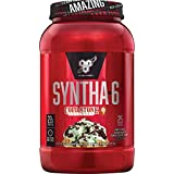BSN Syntha-6 Whey Protein Powder, Cold Stone Creamery-Mint Mint Chocolate Chocolate Chip Flavor, Micellar Casein, Milk Protein Isolate Powder, 25 Servings