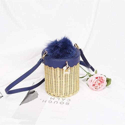 al Hombro Mujer Beimaiji Azul para Trade Bolso Negro Negro EqE1t