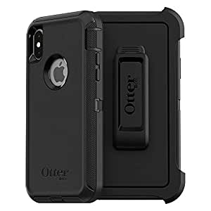 OtterBox DEFENDER SERIES Case for iPhone Xs & iPhone X - Retail Packaging - BLACK