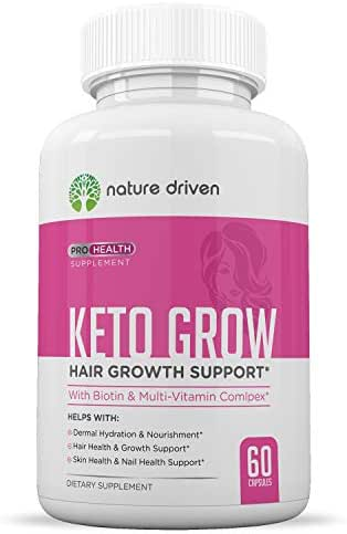 Hair Growth Vitamins for Healthy Hair - Contains Biotin, Bamboo & Fo-Ti - Supports Healthy Hair - Promotes Stronger Nails - Encourages Brighter, Healthier Skin - One Month Supply (60 Capsules)