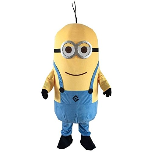 Minions Despicable Me Mascot Costume Cosplay Fancy Dress Adult Size Outfit Birthday Party Event (Adult Deluxe Vision Costumes)