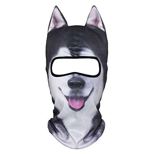 - WTACTFUL 3D Animal Ears Balaclava Breathable Windproof Face Mask Protection for Skiing Snowboard Cycling Motorcycle Music Festivals Raves Halloween Party Cosply Outdoor Sports Husky MEB-09