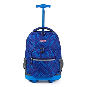 Choies Rolling Backpack Wheels girls boys for Students Kids to School Travel 19 Inch