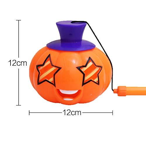 Mjia Lamp Halloween String,Portable Pumpkin Light, Kindergarten Children with Sound Toys, Portable Light Singing Pumpkin Lights, F -