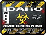Idaho Zombie Hunting Permit Decal Danger Zone Style