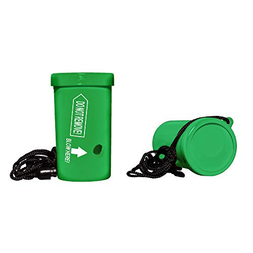 Super Air Blaster Safety Whistle - 24 Pack (Green)]()