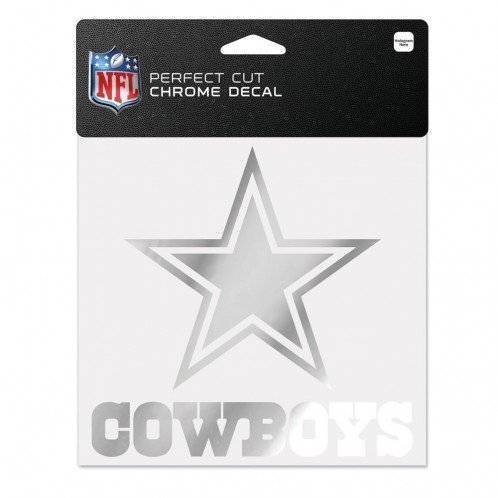 NFL Dallas Cowboys Chrome Perfect Cut Decal, 6 x 6