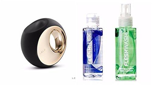 LELO Ora 2 The World's Most Sophisticated Oral Sex Simulator + Free Fleshlube Water 4 oz Fleshwash Cleaner 4 oz (Black)