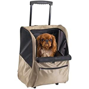 Deluxe Backpack Pet Carrier on Wheels