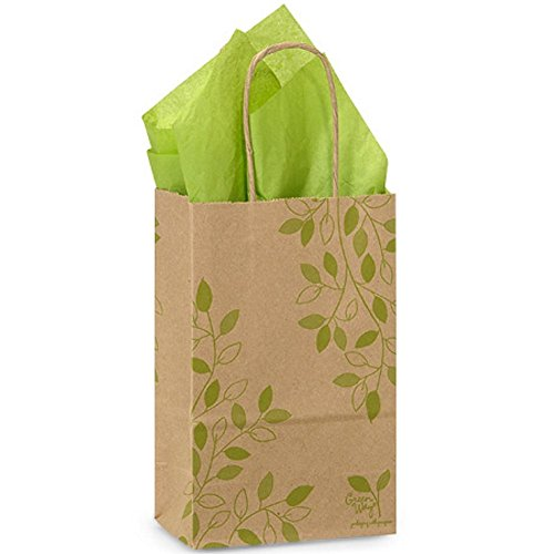 Ivy Lane Paper Shopping Bags - Rose Size - 5 1/2 x 3 1/4 x 8 3/8in. - 200 Pack by NW