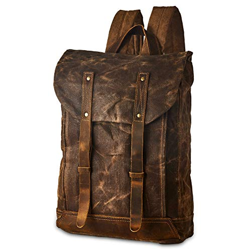 0133b7550dfd Jual BRASS TACKS Leathercraft Men s Waxed Canvas Backpack Casual ...