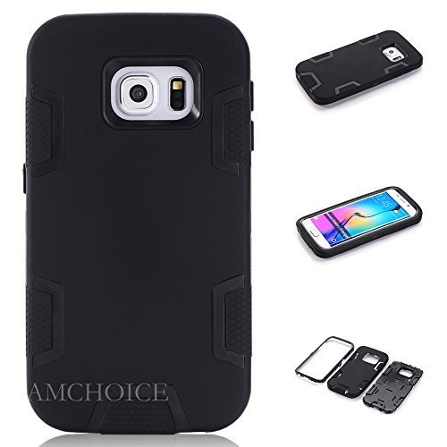 S6 Edge Case, Galaxy S6 Edge Case, AMCHOICE(TM) Shockproof Hybrid 3 Layer [Silicone&PC] Combo Case For Samsung Galaxy S6 Edge (Black), [Free Stylus,Screen Protector,Cleaning - Paisley Warehouse Dress
