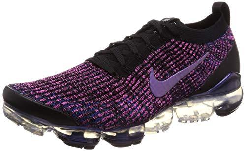 superior quality 92639 0c942 Nike Men s Air Vapormax Flyknit 3 Black Racer Blue Laser Fuchsia Nylon  Running Shoes