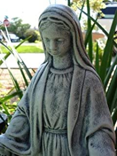 Concrete Virgin Mary Religious Statue Bless Mother Religion Catholic  Sculpture Indoor Outdoor Garden Painted