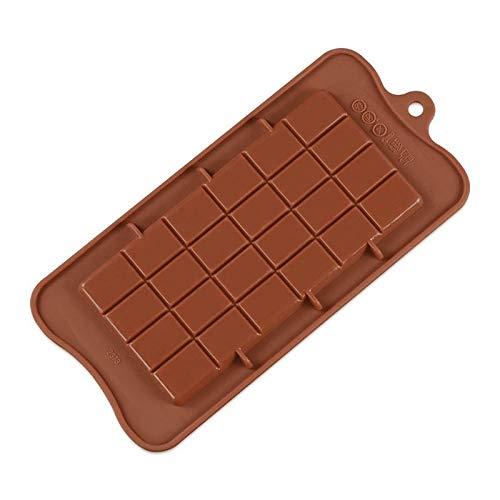 1 piece 24 Cavity Baking Dish Cake Bakeware Silicone Chocolate Mold Candy Sugar Mould Kitchen Bar Block Ice Tray Cake Tool ()