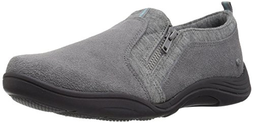 Grasshoppers Women Elite Zip Suede Fashion Steel Grey
