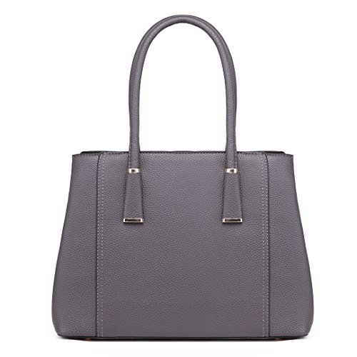 Litchi for Skin 1748 Ladies Grey Women Lulu Stylish Handbag Shoulder Top Miss Pu Quality Tote Design Leather 0pfqwxOY