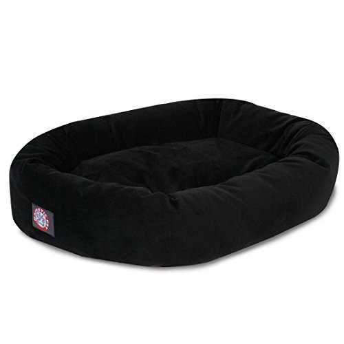 1 Piece Black Solid Color Extra Large 52 Inches Bolster Donu