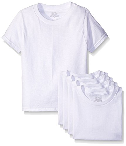 byFruit of the Loom Fruit of The Loom Little Boys' Crew Tee Five-Pack (Pack of 5) (White, 4T/5T) by Fruit of the Loom